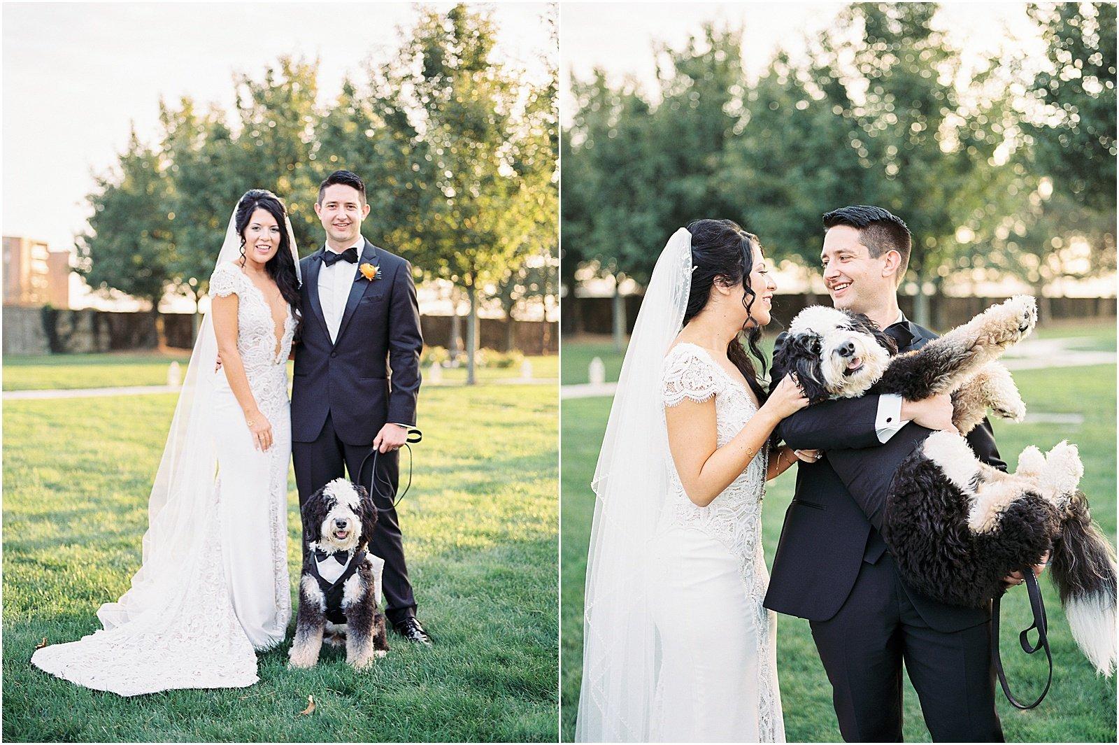 Newport Rhode Island Belle Mer Wedding Kylee Yee Photography Bernedoodle