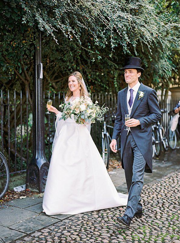 Cotswolds Wedding Aynhoe Park Kylee Yee Photography bride and groom walking