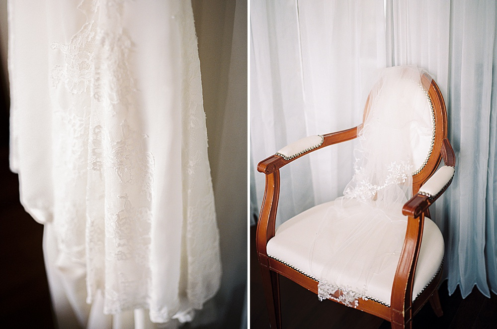 Intimate Central Park wedding dress details