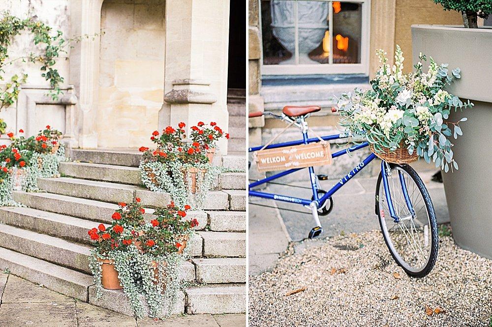 Cotswolds Wedding Aynhoe Park Kylee Yee Photography tandem bike