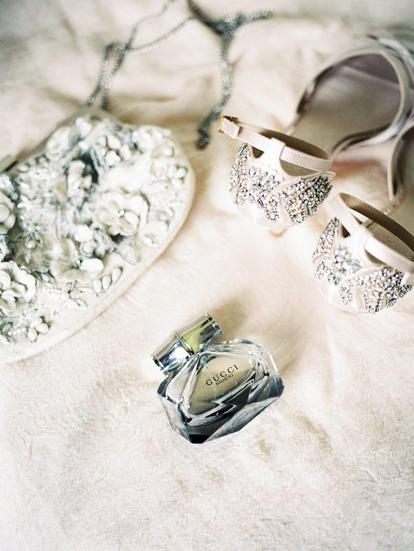 Intimate Central Park wedding bride accessories details