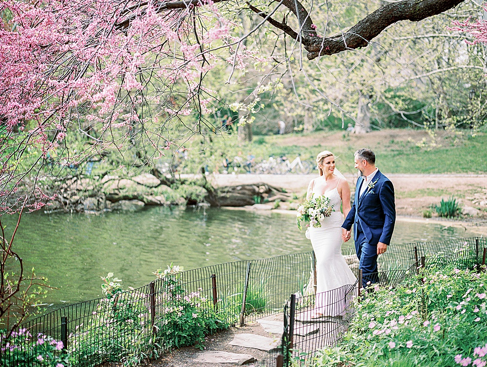 Intimate Central Park wedding at Ladies Pavilion lake