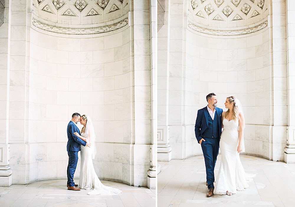 Intimate Central Park wedding New York Public Library