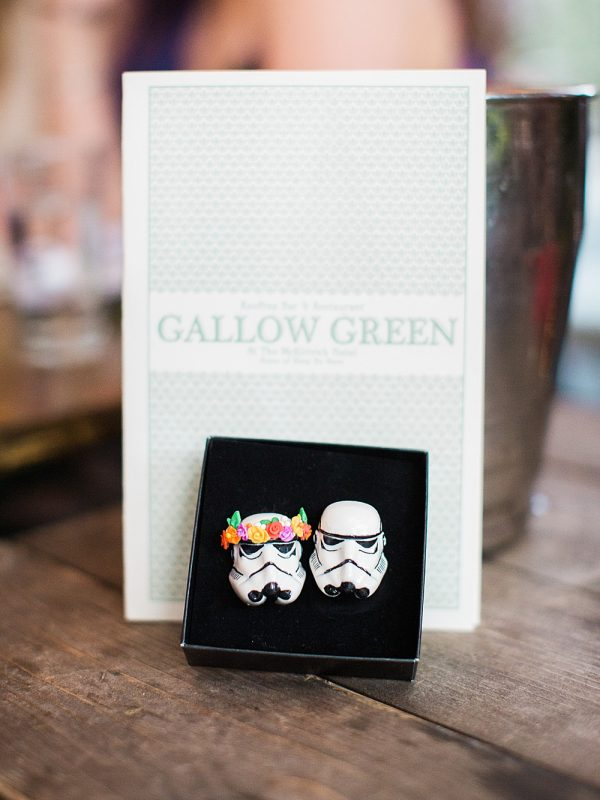 Intimate Central Park wedding Gallow Green Star Wars storm troopers