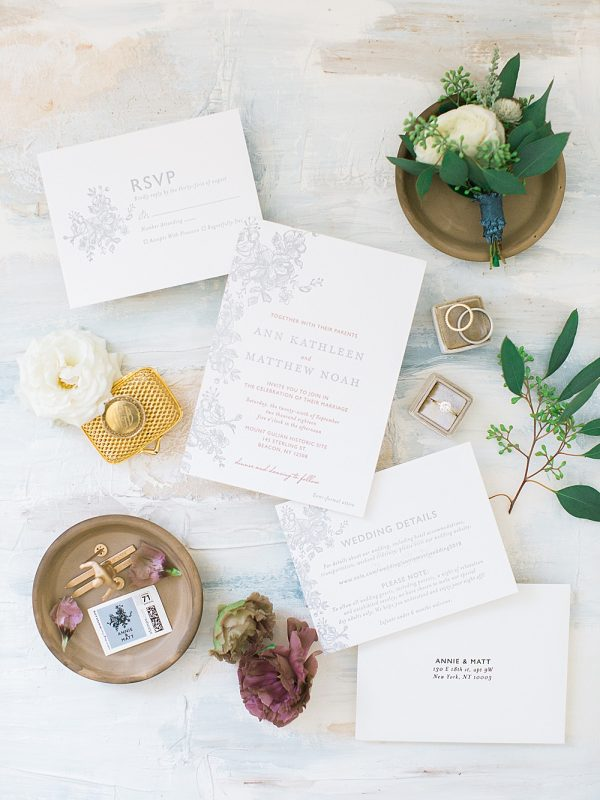 Mount Gulian Wedding Hudson Valley, NY Kylee Yee Photography invitation suite