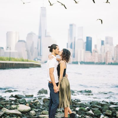 Jersey City Engagement | Crystal + Cyril