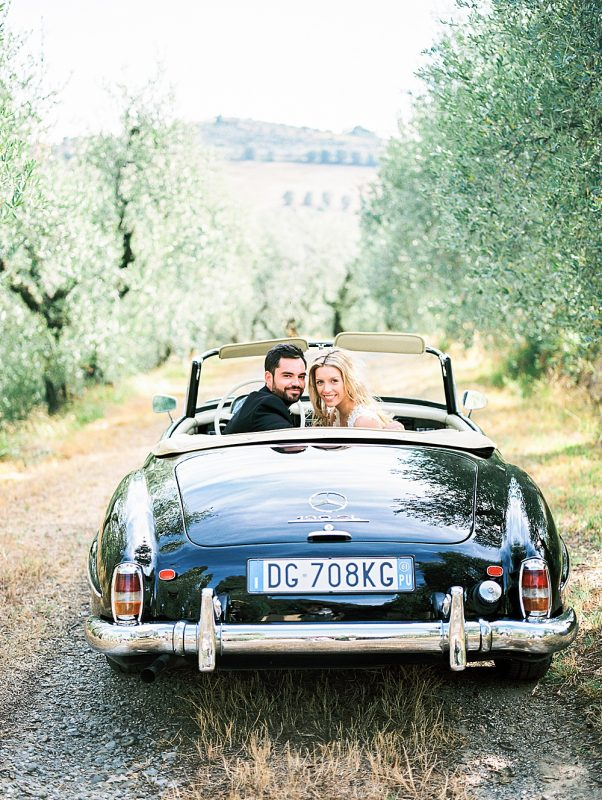 couple with getaway car