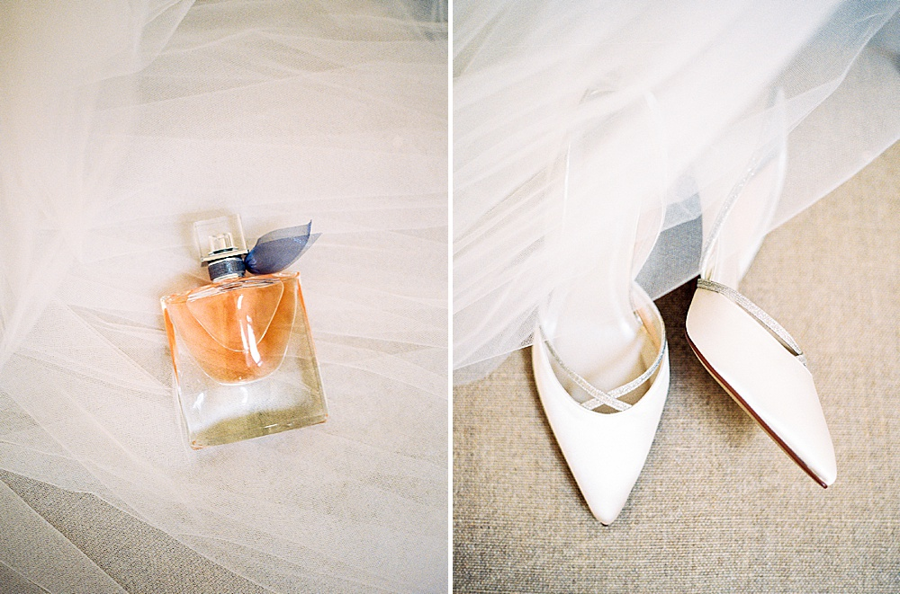 bridal details shoes perfume