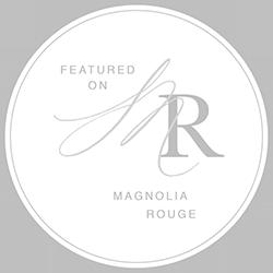Magnolia Rouge Feature Badge