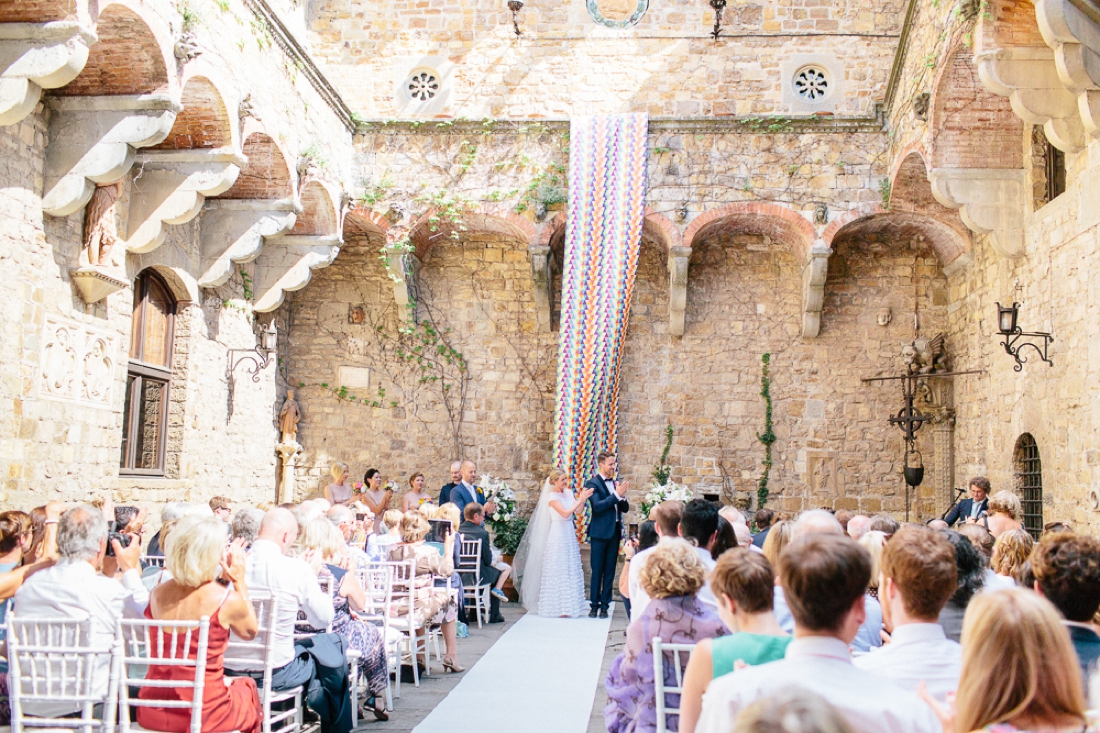 Tuscany Castello di Vincigliata Fiesole Wedding Kate & Mike-336